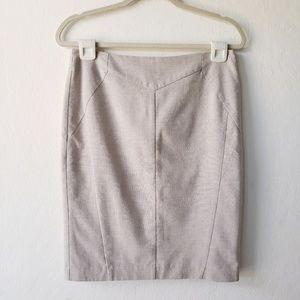Worthington Beige Pencil Skirt